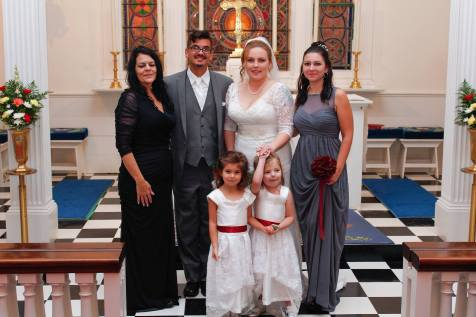 My son and his bride, my daughter and my grand daughters