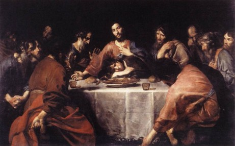 """""""The Last Supper"""" by Valentin de Boulogne"""