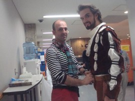 """Filip Barankiewicz getting ready for the general rehearsal as """"Petrucchio"""""""