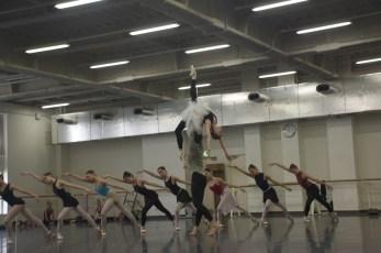 Swan Lake rehearsal in the studio (Anna Osadcenko, Evan McKie and Ensemble)