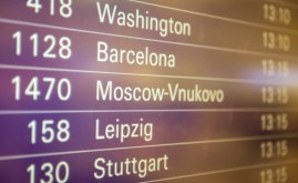 Our destination on the departure board