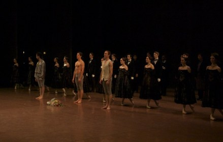 """Bowing after our last """"the Lady of the Camellias""""-performance in Seoul"""