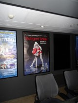 """Our poster in the lobby of the theatre showing Evan McKie and Anna Osadcenko in Douglas Lee's """"Fanfare LX""""!"""