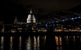 London by night: St. Paul's Cathedral