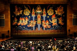 The beautiful curtain of the Thailand Cultural Center