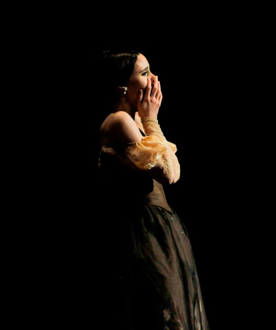 She made it.... Elisa Badenes in the last seconds of her debut as Tatiana in Onegin