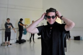 Marco Goecke after the rehearsal