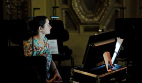 Our pianist Maria Kiosseva takes care of the music in the rehearsals without the orchestra