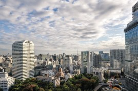 Skyline of Tokyo as seen from the hotel.