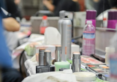 the tools of the makeup artists ...
