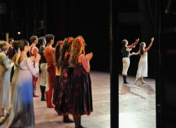 After a moving performance of Romeo and Juliet Anna Osadcenko, Jason Reilly and the company take a bow.