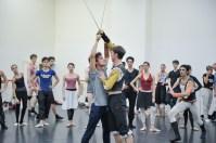 Rehersal of Romeo and Juliet: Pablo von Sternenfels as Mercutio, Robert Robinson as Tybalt and Constantine Allen as Romeo