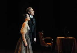 Tatiana and Onegin in the last moments of the performance