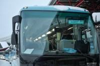 Nach einem langen Flug: Reid Anderson und Tamas Detrich im Bus zum Hotel