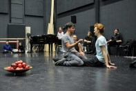 Demis Volpi and Titus Jansen during the rehearsal