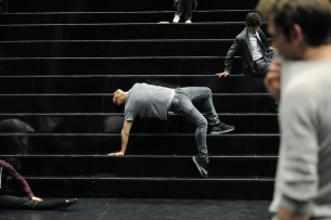 Demis Volpi on the stairs
