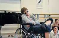 Matteo Crockard-Villa relaxing in Herod's wheel chair