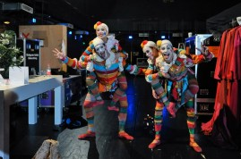 The carnival dancers: Agnes Su, Aurora de Mori, Fabio Adorisio and Matteo Miccini