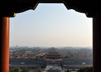 View onto the Forbidden City