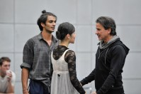 Hyo-Jung Kang and Constantine Allen in the rehearsal with Tamas Detrich
