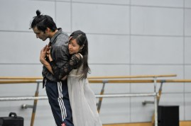 Hyo-Jung Kang and Constantine Allen in the rehearsal