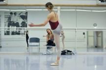 Katarzyna Kozielska with Alicia Amatriain in a rehearsal of Dark Glow