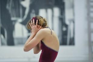 Alicia Amatriain in a rehearsal of Dark Glow