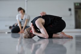 Adam Russell-Jones rehearsing Sidi Larbi Cherkaoui's Faun