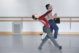 The choreographer in action: rehearsal of Katarzyna Kozieska's Dark Glow