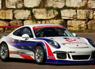 Porsche 911 GT America - United SportsCar: Pictured here is the GT3 America, right-front view. Credit: Porsche Motorsport North America