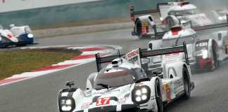 Porsche wins 2015 WEC Championship: No 17 919 Hybrid in 2015 Shanghai lead. Credit: Porsche AG