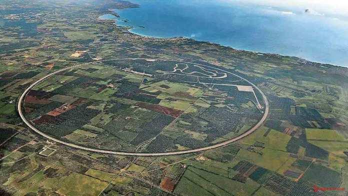 2015 Porsche year in review: Aerial of Nardo Test Center. Credit: Porsche AG