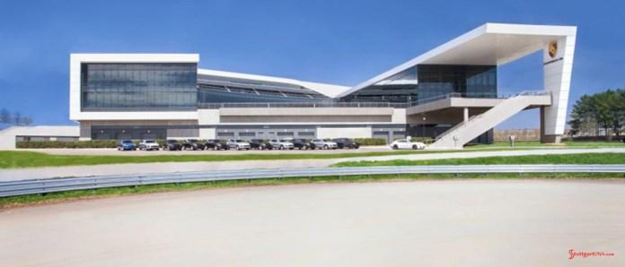 2015 Porsche year in review: Porsche's Atlanta Experience Center and HQ, from track. Porsche AG