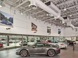 Top Ten CPO Tips for Buying a Certified Pre-Owned Porsche: Interior of Porsche of San Antonio-LEED Gold Certified. Credit: Porsche AG