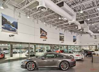 Top Ten CPO Tips for Buying a Certified Pre-Owned Porsche: Interior of Porsche of San Antonio-LEED Gold Certified. Credit: Porsche AG