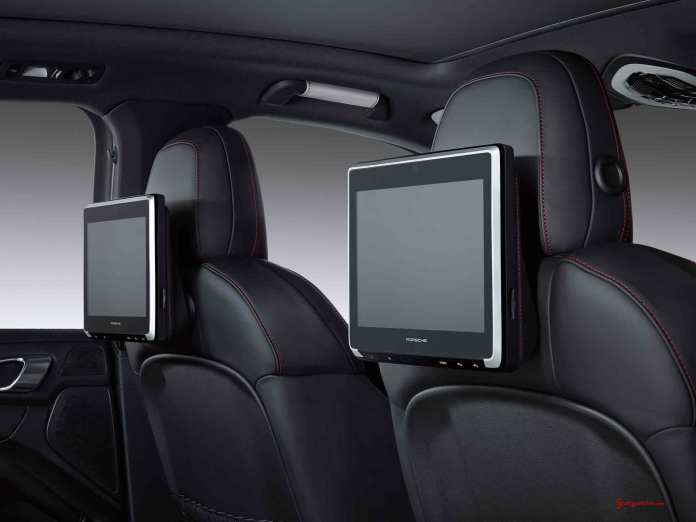 Porsche Certified Pre-Owned (CPO) Program: Porsche Rear Seat Entertainment. Credit: Porsche AG