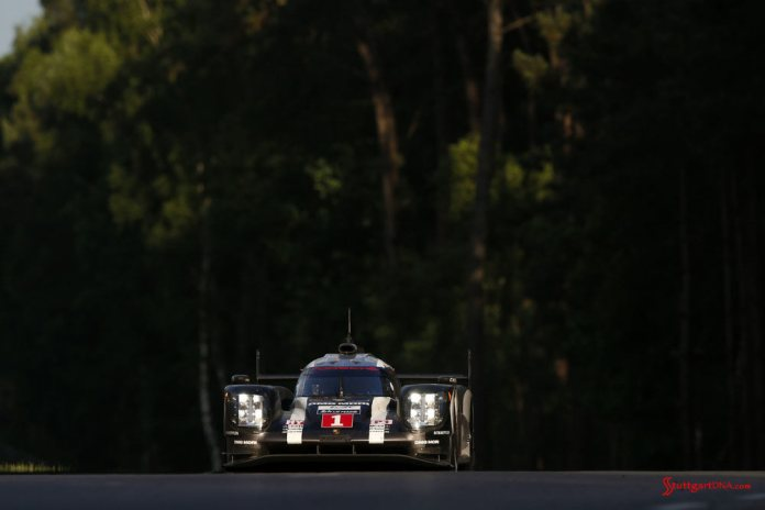 Porsche garners 18th overall win at 84th Le Mans 2016: No. 1 919 emerges from forest. Credit: Porsche AG