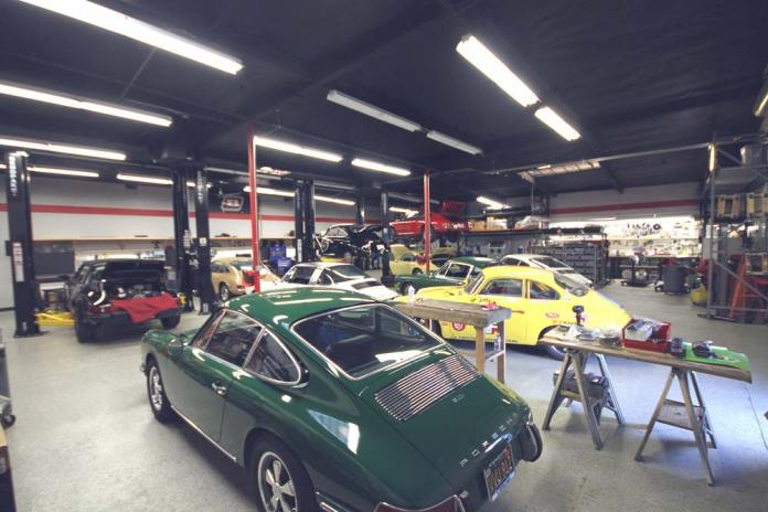 2017 Porsche L.A. Literature, Toy and Memorabilia Show Weekend: Here is one angle of the shop at Benton Performance in Anaheim, California. Credit: Benton Performance