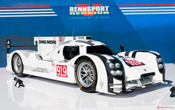 Rennsport Reunion V: The Le Mans-winning 919 on display at the last event. Credit: Porsche AG