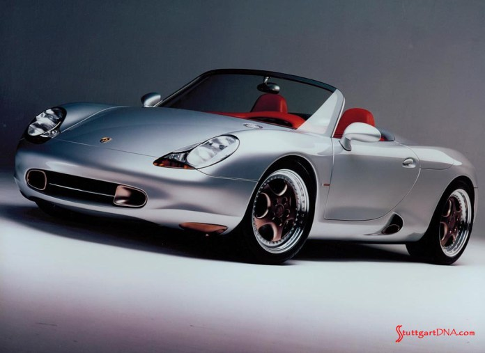 996-gen Porsche 911 Buyer Guide: Seen here is the Boxster concept car, which was unveiled in 1993 at the Porsche exhibitions in Detroit and Geneva. Credit: Porsche AG