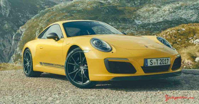 991.2-gen Porsche 911 Buyer Guide: Depicted here is a Racing Yellow Porsche 911 Carrera T, right-front. Credit: Porsche AG