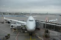 """Unser Flugzeug, es heißt """"Bayern"""". Bis unter's Dach ausgebucht."""