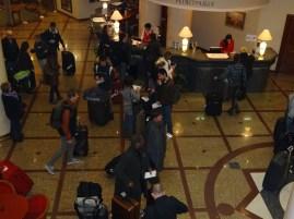 Ankunft im Hotel in Moskau Sonntag Abend