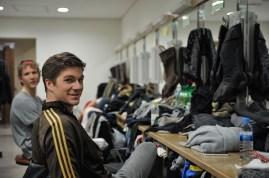 Matteo Crockard-Villa und Alexander McGowan in der Garderobe.
