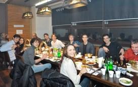 Sue Jin Kang und unser Veranstalter Credia haben die ganze Compagnie zu einem Abendessen nach der letzten Vorstellung eingeladen.