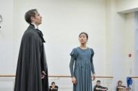 Probe für sein Onegin-Debüt: Roman Novitzky als Onegin und Hyo-Jung Kang als Tatjana