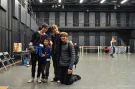 ... sondern auch Elisa Badenes und Friedemann Vogel, die er am gleichen Tag in Onegin auf er Bühne sehen konnte!