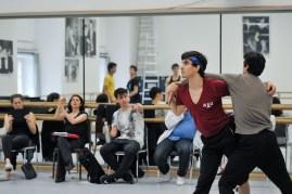 Martí Fernandez Paixa und Özkan Ayik bei der Probe