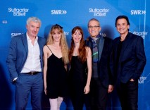 Filmregisseur Harold Woetzel (SWR), Alicia Amatriain, Elisa Badenes, Reid Anderson, Tamas Detrich