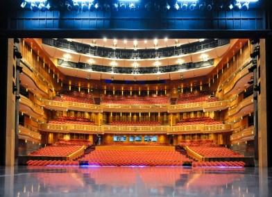 noch menschenleer: Der Zuschauerraum im Shanghai Grand Theatre